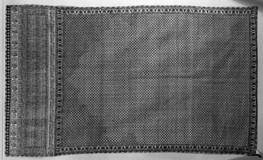 <em>Tomb Cover with Arabic Inscription</em>, 17th-18th century. Silk, paint, 62 x 36in. (157.5 x 91.4cm). Brooklyn Museum, Gift of the Ernest Erickson Foundation, Inc., 86.227.111. Creative Commons-BY (Photo: Brooklyn Museum, 86.227.111_acetate_bw.jpg)