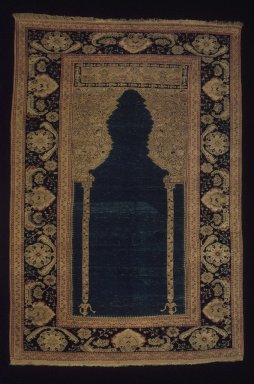 <em>Prayer Carpet</em>, 19th century. Wool, New Dims 2005: 70 1/4 x 48 in. (178.4 x 121.9 cm). Brooklyn Museum, Gift of the Ernest Erickson Foundation, Inc., 86.227.118. Creative Commons-BY (Photo: Brooklyn Museum, 86.227.118_transp6378.jpg)