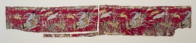 <em>Textile Fragment with Hunter on Horseback</em>, 17th century style. Silk brocade, 10 x 17 1/2in. (25.4 x 44.5cm). Brooklyn Museum, Gift of the Ernest Erickson Foundation, Inc., 86.227.155. Creative Commons-BY (Photo: Brooklyn Museum, 86.227.155.jpg)