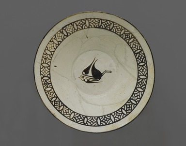<em>Bowl</em>, 9th-10th century. Ceramic, glaze, slip, 4 1/2 × 15 1/4 × 14 3/4 in. (11.4 × 38.7 × 37.5 cm). Brooklyn Museum, Gift of the Ernest Erickson Foundation, Inc., 86.227.18. Creative Commons-BY (Photo: Brooklyn Museum, 86.227.18_PS2.jpg)