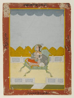 <em>Portrait of Phul Kaur of Jaipur</em>, late 18th century. Opaque watercolors on paper, 10 x 7in. (25.4 x 17.8cm). Brooklyn Museum, Gift of the Ernest Erickson Foundation, Inc., 86.227.52 (Photo: Brooklyn Museum, 86.227.52_IMLS_PS4.jpg)