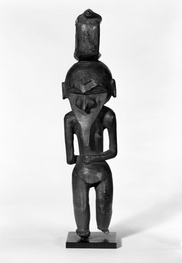 Kanak. <em>Staff Figure</em>. Wood Brooklyn Museum, Gift of Evelyn A. J. Hall and John A. Friede, 86.229.3. Creative Commons-BY (Photo: Brooklyn Museum, 86.229.3_bw.jpg)
