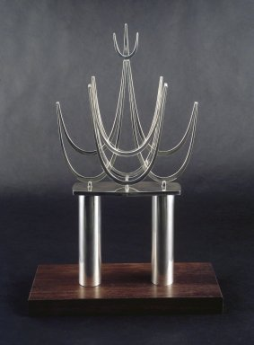 Bernard Bernstein (American, born 1928). <em>Torah Crown</em>, ca. 1970. Silver, 16 3/4 x 9 x 2 1/4 in. (42.5 x 22.9 x 5.7 cm). Brooklyn Museum, Gift of Joseph and Rosalyn Newman, 86.245. Creative Commons-BY (Photo: Brooklyn Museum, 86.245_transp2876.jpg)