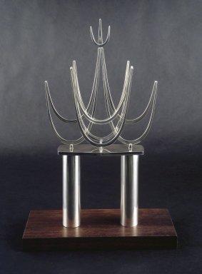 Bernard Bernstein (American, born 1928). <em>Torah Crown</em>, ca. 1970. Silver, 16 3/4 x 9 x 2 1/4 in. (42.5 x 22.9 x 5.7 cm). Brooklyn Museum, Gift of Joseph and Rosalyn Newman, 86.245. Creative Commons-BY (Photo: Brooklyn Museum, 86.245_transp2876.jpg)