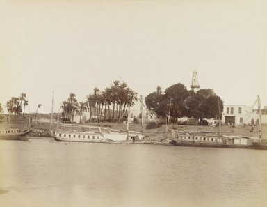 Antonio Beato (Italian and British, ca. 1825-ca.1903). <em>Vue d'Afsouan</em>, 19th century. Albumen silver photograph, image/sheet: 8 1/16 x 10 7/16 in. (20.4 x 26.5 cm). Brooklyn Museum, Gift of Alan Schlussel, 86.250.5 (Photo: Brooklyn Museum, 86.250.5_PS4.jpg)