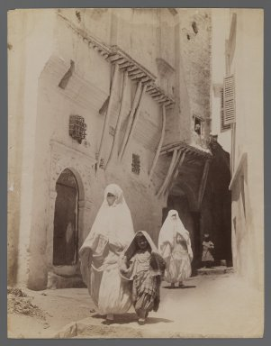 <em>View from Site in Northern Africa or Syria</em>, 19th century. Albumen silver photograph, 11 x 8 7/16 in. (28 x 21.5 cm). Brooklyn Museum, Gift of Samuel Kirschenbaum, 86.265.3 (Photo: Brooklyn Museum, 86.265.3_IMLS_PS3.jpg)