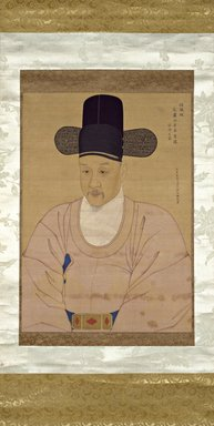 <em>Portrait of Chief Minister Han Ik-mo</em>, last half of 18th century. Ink and light color on silk, 62 3/8 × 26 1/8 in. (158.4 × 66.4 cm). Brooklyn Museum, Gift of Dr. and Mrs. John P. Lyden, 86.271.7 (Photo: Brooklyn Museum, 86.271.7_SL3.jpg)