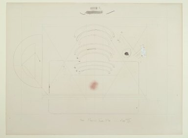 Pat Steir (American, born 1940). <em>More Magical Fear Map -  Map VI</em>, 1971. Graphite, colored pencil, ink, crayon, pastel, and watercolor on paper, 14 15/16 x 20 in. (37.9 x 50.8 cm). Brooklyn Museum, Gift of Dr. Barry and Shea Gordon Festoff, 86.291.1. © artist or artist's estate (Photo: Brooklyn Museum, 86.291.1_PS2.jpg)