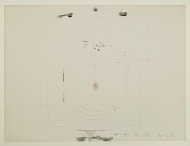 Pat Steir (American, born 1940). <em>Most Magical Fear Map - Map No. VII</em>, 1971. Graphite, colored pencil, ink, pastel, watercolor, and crayon on paper, 14 15/16 x 20 in. (37.9 x 50.8 cm). Brooklyn Museum, Gift of Dr. Barry and Shea Gordon Festoff, 86.291.2. © artist or artist's estate (Photo: Brooklyn Museum, 86.291.2_PS2.jpg)