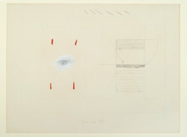 Pat Steir (American, born 1940). <em>Fear Map VIII</em>, 1971. Graphite, colored pencil, paste, crayon, ink, and gouache, 14 15/16 x 20 in. (37.9 x 50.8 cm). Brooklyn Museum, Gift of Dr. Barry and Shea Gordon Festoff, 86.291.3. © artist or artist's estate (Photo: Brooklyn Museum, 86.291.3_PS2.jpg)
