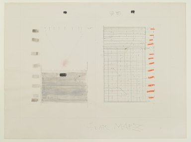 Pat Steir (American, born 1940). <em>Fear Map X</em>, 1971. Graphite, colored pencil, ink, wash, pastel, and crayon on paper, 15 x 20 in. (38.1 x 50.8 cm). Brooklyn Museum, Gift of Dr. Barry and Shea Gordon Festoff, 86.291.5. © artist or artist's estate (Photo: Brooklyn Museum, 86.291.5_PS2.jpg)
