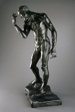 Auguste Rodin (French, 1840-1917). <em>Pierre de Wiessant, Monumental Nude (Pierre de Wissant, nu monumental)</em>, 1886, cast 1983. Bronze, 78 1/4 × 44 3/4 × 36 1/2 in., 532 lb. (198.8 × 113.7 × 92.7 cm). Brooklyn Museum, Gift of the B. Gerald Cantor Collection, 86.310. Creative Commons-BY (Photo: Brooklyn Museum, 86.310_SL1.jpg)
