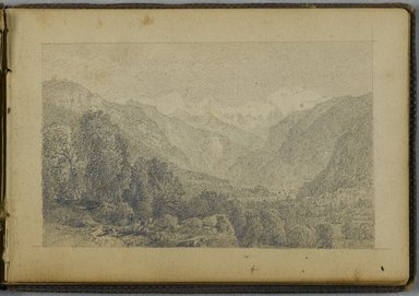 William Trost Richards (American, 1833-1905). <em>Sketchbook</em>, 1867. Bound sketchbook with drawings in graphite on beige, moderately thick, smooth textured wove paper, Closed: 3 5/8 x 5 1/4 in. (9.2 x 13.3 cm). Brooklyn Museum, Gift of Edith Ballinger Price, 86.53.5 (Photo: Brooklyn Museum, 86.53.5_PS2.jpg)