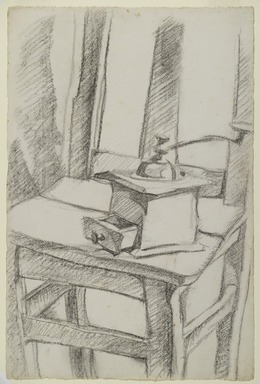 Juan Gris (Spanish, 1887-1927). <em>The Coffee Grinder (Le Moulin à Café)</em>, 1911. Charcoal on laid paper, Image: 18 3/4 x 12 1/2 in. (47.6 x 31.7 cm). Brooklyn Museum, Purchased with funds given by Henry and Cheryl Welt, 86.64 (Photo: Brooklyn Museum, 86.64_PS2.jpg)