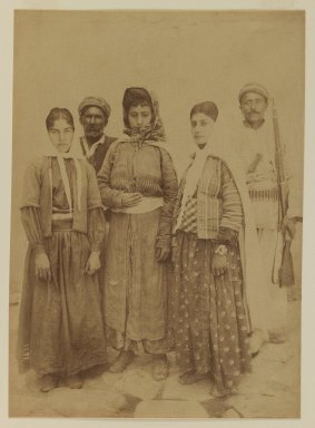 <em>[Untitled]</em>, 19th century. Albumen silver photograph, 13 9/16 x 10 1/2 in. (34.4 x 26.7 cm). Brooklyn Museum, Special Middle Eastern Art Fund, 86.86.11 (Photo: Brooklyn Museum, 86.86.11_IMLS_PS3.jpg)