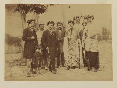 <em>[Untitled]</em>, 19th century. Albumen silver photograph, 13 9/16 x 10 1/2 in. (34.4 x 26.7 cm). Brooklyn Museum, Special Middle Eastern Art Fund, 86.86.12 (Photo: Brooklyn Museum, 86.86.12_IMLS_PS3.jpg)