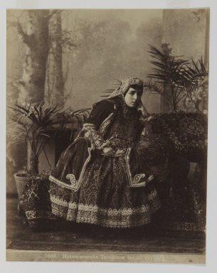 <em>[Untitled]</em>, 19th century. Albumen silver photograph, 13 9/16 x 10 1/2 in. (34.4 x 26.7 cm). Brooklyn Museum, Special Middle Eastern Art Fund, 86.86.14 (Photo: Brooklyn Museum, 86.86.14_IMLS_PS3.jpg)