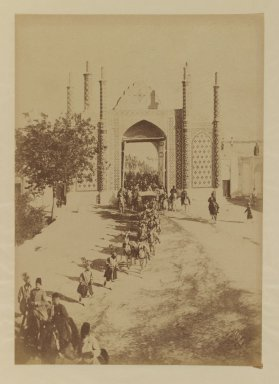 <em>[Untitled]</em>, 19th century. Albumen silver photograph, 13 7/16 x 10 3/8 in. (34.1 x 26.4 cm). Brooklyn Museum, Special Middle Eastern Art Fund, 86.86.17 (Photo: Brooklyn Museum, 86.86.17_IMLS_PS3.jpg)