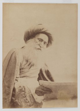 <em>Photographic Portrait of Dr. Nur Mahmoud</em>, 19th century. Albumen silver photograph, 13 9/16 x 10 1/2 in. (34.4 x 26.7 cm). Brooklyn Museum, Special Middle Eastern Art Fund, 86.86.5 (Photo: Brooklyn Museum, 86.86.5_IMLS_PS3.jpg)