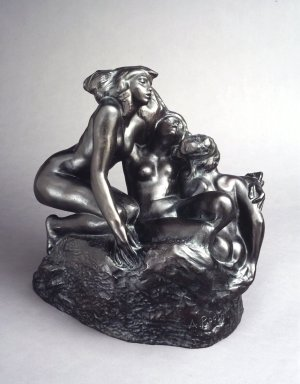 Auguste Rodin (French, 1840-1917). <em>The Sirens (Les Sirènes)</em>, 1880s, cast 1967. Bronze, 17 x 17 1/4 x 12 5/8 in. (43.2 x 43.8 x 32.1 cm). Brooklyn Museum, Gift of the Iris and B. Gerald Cantor Foundation, 86.87.1. Creative Commons-BY (Photo: Brooklyn Museum, 86.87.1_transp6256.jpg)