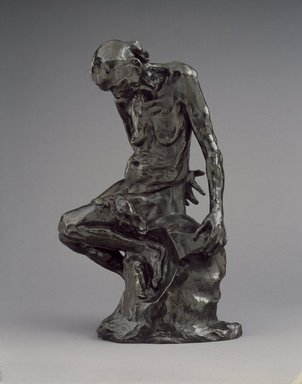 Auguste Rodin (French, 1840-1917). <em>She Who Was The Helmet Maker's Once-Beautiful Wife (Celle qui fut la belle heaulmière)</em>, 1885-1887; cast 1969. Bronze, 19 3/4 x 13 x 9 3/4 in.  (50.2 x 33.0 x 24.8 cm). Brooklyn Museum, Gift of the Iris and B. Gerald Cantor Foundation, 86.87.2. Creative Commons-BY (Photo: Brooklyn Museum, 86.87.2_SL3.jpg)
