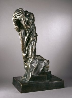 Auguste Rodin (French, 1840-1917). <em>Andrieu d'Andres, Monumental (Andrieu d'Andres, monumental)</em>, 1888; cast 1983. Bronze, 78 3/8 x 50 x 33 1/2 in., 931 lb. (199.1 x 127 x 85.1 cm). Brooklyn Museum, Gift of Iris and B. Gerald Cantor, 87.106.3. Creative Commons-BY (Photo: Brooklyn Museum, 87.106.3_SL1.jpg)