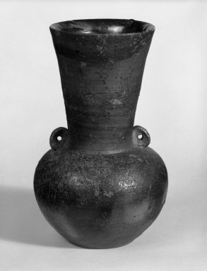 Ogami Noboru (Japanese, born 1929). <em>Vase</em>, ca. 1978. Stoneware, tamba ware, 8 5/8 x 5 in. (21.9 x 12.7 cm). Brooklyn Museum, Gift of Dr. and Mrs. Frederick Baekeland, 87.126.1. Creative Commons-BY (Photo: Brooklyn Museum, 87.126.1_bw.jpg)