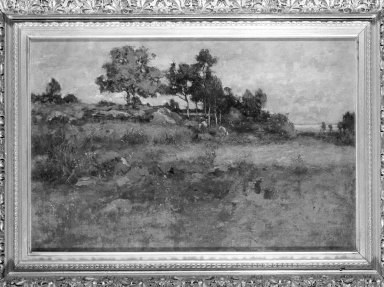Max Weyl (American, 1837-1914). <em>In the Kaloramas Hills, Near Washington</em>, 1884. Oil on canvas, 15 15/16 x 23 11/16 in. (40.5 x 60.1 cm). Brooklyn Museum, Anonymous gift, 87.135.2 (Photo: Brooklyn Museum, 87.135.2_framed_bw.jpg)