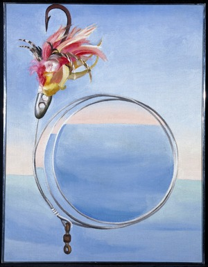 Georgia O'Keeffe (American, 1887-1986). <em>Fishhook From Hawaii -  No. I</em>, 1939. Oil on canvas