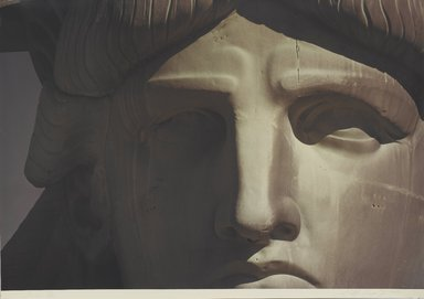 Ruffin Cooper (American, 1942-1992). <em>Face (Statue of Liberty)</em>, 1979. Chromogenic photograph, image: 32 3/4 x 48 1/16 in. (83.2 x 122 cm). Brooklyn Museum, Gift of the artist, 87.149.6 (Photo: Brooklyn Museum, 87.149.6_PS1.jpg)