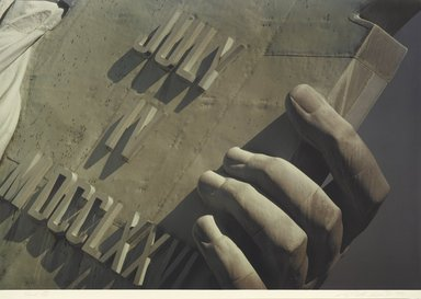 Ruffin Cooper (American, 1942-1992). <em>Hand (Statue of Liberty)</em>, 1979. Chromogenic photograph, image: 32 3/4 x 48 1/16 in. (83.2 x 122 cm). Brooklyn Museum, Gift of the artist, 87.149.7 (Photo: Brooklyn Museum, 87.149.7_PS1.jpg)