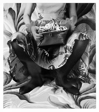Vicki Lee Ragan (American, born 1951). <em>The Princess and the Frogs</em>, 1983. Dye diffusion photograph (Polaroid), sheet: 28 × 22 in. (71.1 × 55.9 cm). Brooklyn Museum, Purchase gift of Maurice and Lillian Barbash, 87.166. © artist or artist's estate (Photo: Brooklyn Museum, 87.166_bw_SL1.jpg)
