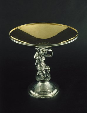 Gorham Manufacturing Company (1865-1961). <em>Compote</em>, ca. 1868. Silver, 8 3/4 x 9 x 9 in. (22.2 x 22.9 x 22.9 cm). Brooklyn Museum, H. Randolph Lever Fund, 87.180. Creative Commons-BY (Photo: Brooklyn Museum, 87.180_SL1.jpg)