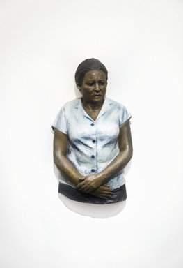 John Ahearn (American, born 1951). <em>Luis' Mother</em>, 1986-1987. Oil on reinforced polydam, 33 x 20 x 8 in. (83.8 x 50.8 x 20.3 cm). Brooklyn Museum, Gift of Cheryl and Henry Welt in memory of Abraham Joseph Welt, 87.194.3. © artist or artist's estate (Photo: Brooklyn Museum, 87.194.3_PS11.jpg)