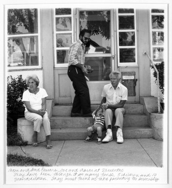 Linda Brooks (American, born 1951). <em>Mom and Dad Panone, Joe and Aaron</em>. Gelatin silver photograph Brooklyn Museum, Gift of the artist, 87.199.1. © artist or artist's estate (Photo: Brooklyn Museum, 87.199.1_bw.jpg)