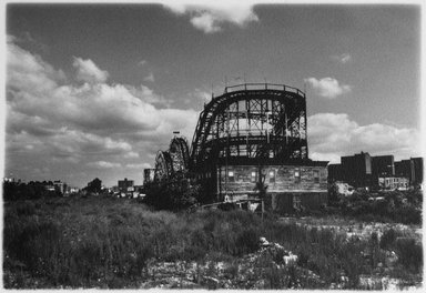 Anita Chernewski (American, born 1946). <em>Coney Island (Thunderbolt)</em>, 1987. Gelatin silver photograph, sheet: 5 13/16 x 7 3/8 in. (14.8 x 18.7 cm). Brooklyn Museum, Gift of the artist, 87.200.2. © artist or artist's estate (Photo: Brooklyn Museum, 87.200.2.jpg)