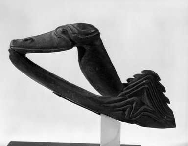 <em>Spear Thrower Ornament</em>. Wood, 3 x 5 x 7/8 in. (7.6 x 12.7 x 2.2 cm). Brooklyn Museum, Gift of Marcia and John Friede and Mrs. Melville W. Hall, 87.218.16. Creative Commons-BY (Photo: Brooklyn Museum, 87.218.16_bw.jpg)