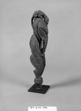 <em>Figure</em>. Wood, 9 7/8 x 2 7/8 x 2 1/2 in. (25.1 x 7.3 x 6.4 cm). Brooklyn Museum, Gift of Marcia and John Friede and Mrs. Melville W. Hall, 87.218.33. Creative Commons-BY (Photo: Brooklyn Museum, 87.218.33_bw.jpg)