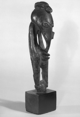 <em>Figure</em>. Wood, 6 3/4 x 1 5/8 x 2 1/8 in. (17.1 x 4.1 x 5.4 cm). Brooklyn Museum, Gift of Marcia and John Friede and Mrs. Melville W. Hall, 87.218.48. Creative Commons-BY (Photo: Brooklyn Museum, 87.218.48_bw.jpg)