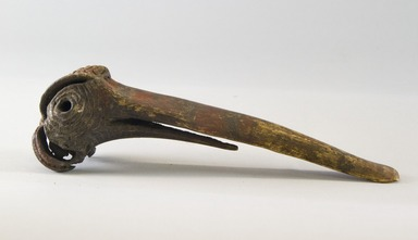 <em>Dagger</em>. Cassowary bone, ochre, 7 3/4 x 2 1/8 x 2 1/8 in. (19.7 x 5.4 x 5.4 cm). Brooklyn Museum, Gift of Marcia and John Friede and Mrs. Melville W. Hall, 87.218.51. Creative Commons-BY (Photo: Brooklyn Museum, 87.218.51_PS8.jpg)