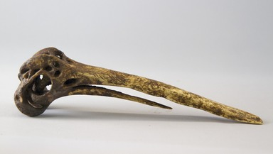 <em>Dagger</em>. Cassowary bone, 8 3/8 x 1 7/8 x 2 3/16 in. (21.3 x 4.8 x 5.6 cm). Brooklyn Museum, Gift of Marcia and John Friede and Mrs. Melville W. Hall, 87.218.52. Creative Commons-BY (Photo: Brooklyn Museum, 87.218.52_view01_PS8.jpg)