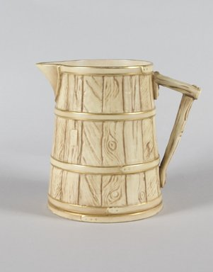 Worcester Royal Porcelain Co. (founded 1751). <em>Pitcher</em>, ca. 1885. Porcelain, 6 3/4 x 7 1/2 x 5 1/4 in. (17.1 x 19.1 x 13.3 cm). Brooklyn Museum, Gift of Dr. and Mrs. George Liberman, 87.223.17. Creative Commons-BY (Photo: Brooklyn Museum, 87.223.17_PS5.jpg)