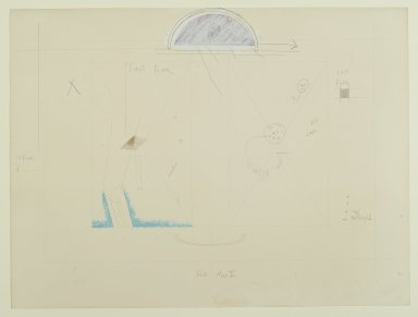 "Pat Steir (American, born 1940). <em>""Fear Map II,""</em> 1971. Graphite, pastel, and colored pencils, 15 x 20 in. (38.1 x 50.8 cm). Brooklyn Museum, Gift of Dr. Barry and Shea Gordon Festoff, 87.243.2. © artist or artist's estate (Photo: Brooklyn Museum, 87.243.2_PS2.jpg)"