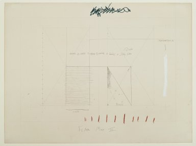 "Pat Steir (American, born 1940). <em>""Fear Map III,""</em> 1971. Graphite, colored pencils, and pastel on paper, 15 1/16 x 20 1/16 in. (38.3 x 51 cm). Brooklyn Museum, Gift of Dr. Barry and Shea Gordon Festoff, 87.243.3. © artist or artist's estate (Photo: Brooklyn Museum, 87.243.3_PS2.jpg)"