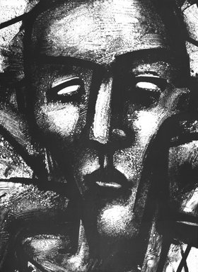 Robert Gordy (American, 1933-1986). <em>Untitled</em>, 1986. Lithograph, Sheet: 30 x 22 1/8 in. (76.2 x 56.2 cm). Brooklyn Museum, Gift of Michelle and Julio Juristo, 87.248.3. © artist or artist's estate (Photo: Brooklyn Museum, 87.248.3_bw.jpg)
