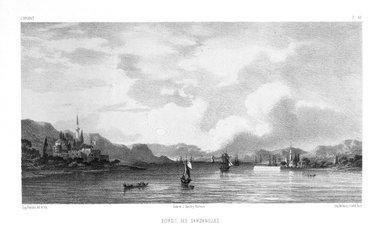 "Eugène Flandin (French, 1809-1876). <em>Plate from ""L'Orient,""</em> n.d. Lithograph, Sheet: 14 1/16 x 21 7/16 in. (35.7 x 54.4 cm). Brooklyn Museum, Gift of Dr. Bertram H. Schaffner, 87.45.5 (Photo: Brooklyn Museum, 87.45.5_bw.jpg)"