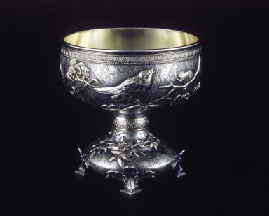 Tiffany & Company (American, founded 1853). <em>Nut Dish</em>, ca. 1882. Silver, 4 x 4 x 4 in. (10.2 x 10.2 x 10.2 cm). Brooklyn Museum, Gift of Dr. and Mrs. Matthew Newman, 87.72. Creative Commons-BY (Photo: Brooklyn Museum, 87.72_transp2938.jpg)