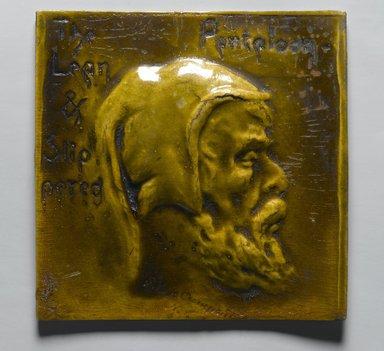 S. Van Campen & Company. <em>Salesman's Sample of Kensington Tiles</em>, 1883-1888. Composition board, 5 13/16 x 5 13/16 x 1/4 in. (14.8 x 14.8 x 0.6 cm). Brooklyn Museum, Gift of Kevin L. Stayton, 88.155.5 (Photo: Brooklyn Museum, 88.155.5_PS2.jpg)