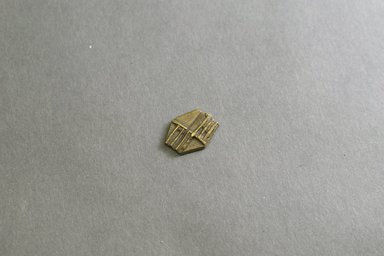 Akan. <em>Gold-weight (abrammuo): geometric</em>, 19th-20th century. Copper alloy, 3/4 x 9/16 x 1/16 in. Brooklyn Museum, Gift of Mr. and Mrs. Franklin H. Williams, 88.192.89. Creative Commons-BY (Photo: Brooklyn Museum, 88.192.89_front_PS5.jpg)