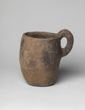 Villanovan. <em>Beer Mug</em>, 8th-early 7th century B.C.E. Clay, 4 1/2 x 4 5/16 in. (11.5 x 10.9 cm). Brooklyn Museum, Gift of Robin F. Beningson, 88.202.3. Creative Commons-BY (Photo: Brooklyn Museum, 88.202.3.jpg)